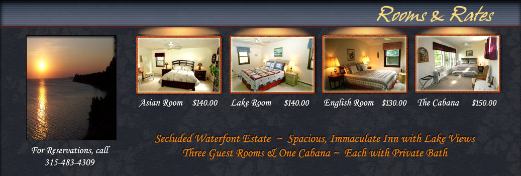 Rooms at The Cliffs at Sodus Point Bed & Breakfast